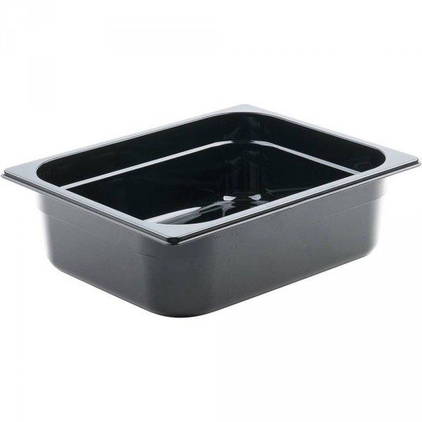 pojemnik z poliwęglanu, czarny, GN 1/2, H 65 mm
