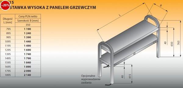 Nadstawka wysoka z panelem grzewczym lo 715 - 795x350