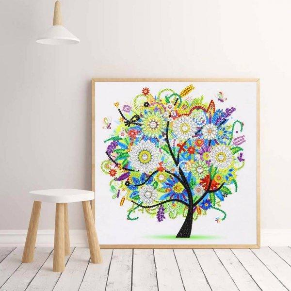 Haft Diamentowy Jesienne Drzewko 30x30 cm