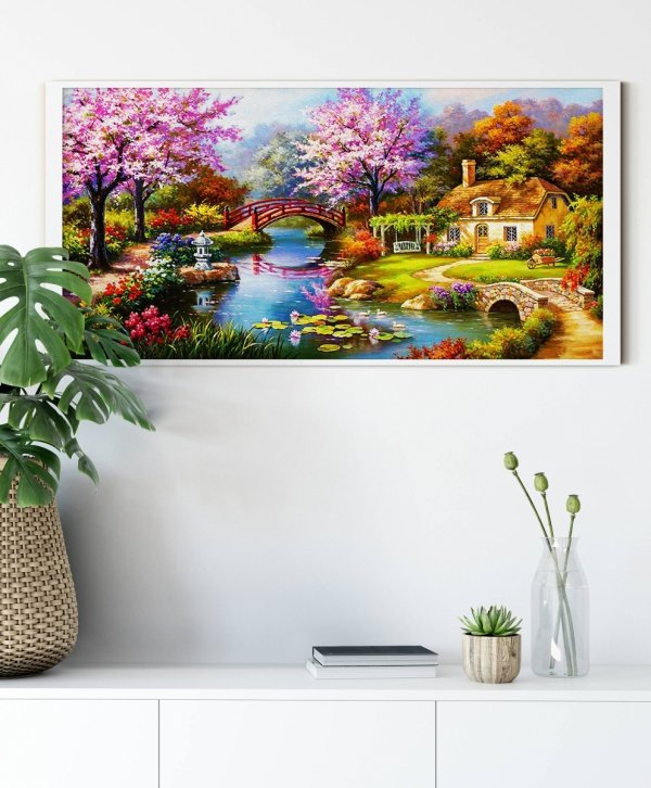 Haft Diamentowy Wiosenny Relaks 50x100 cm