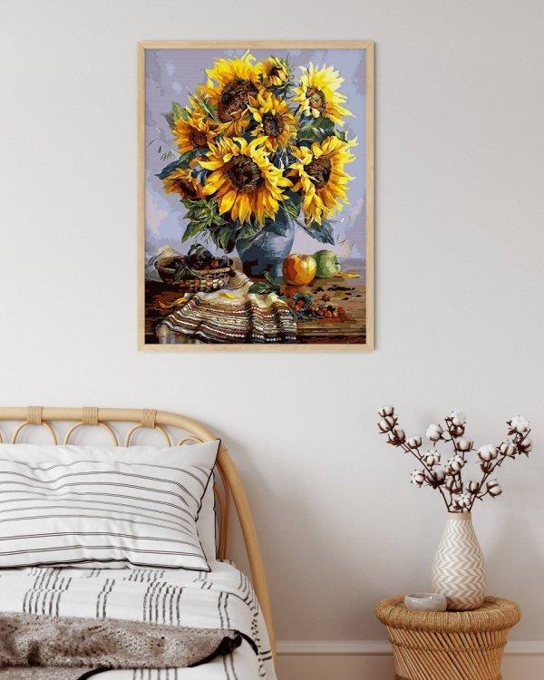 Haft Diamentowy Słoneczniki 40x50 cm