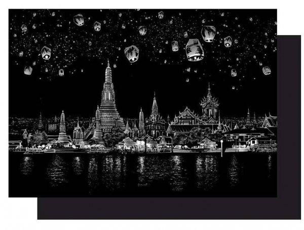 Magiczna Zdrapka  Chengmail Miasto Lampionów 40x28cm