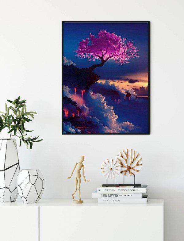 Haft Diamentowy Drzewo Życia 45x55 cm K