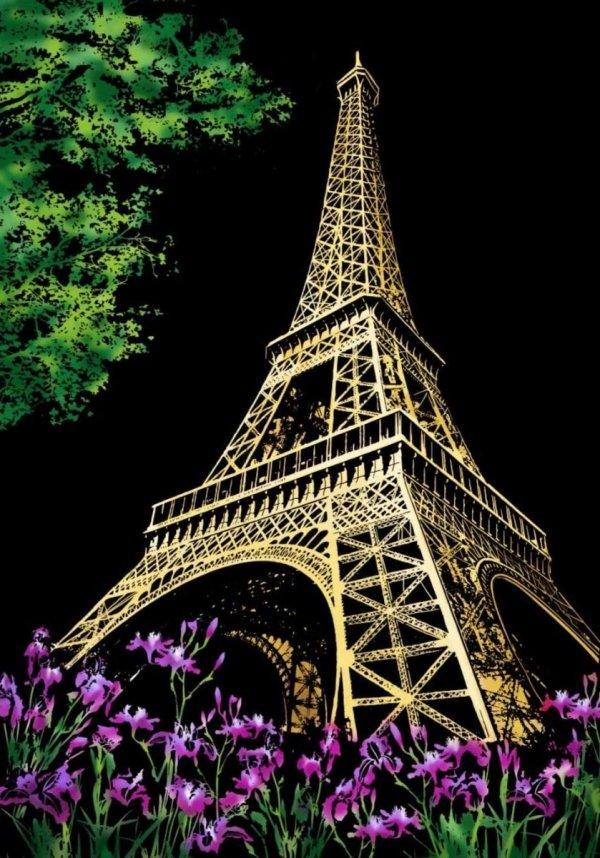 Magiczna Zdrapka Wieża Eiffla 40x28cm