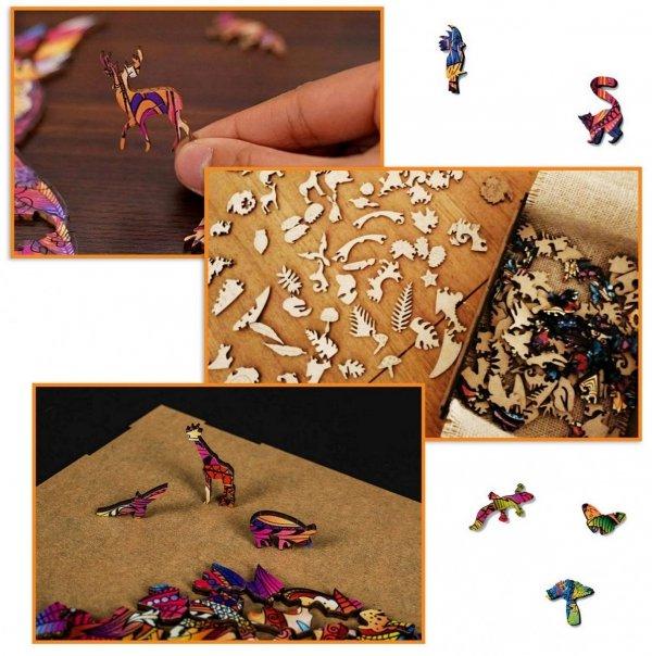 Drewniane Puzzle SKRZYDLATA SOWA L