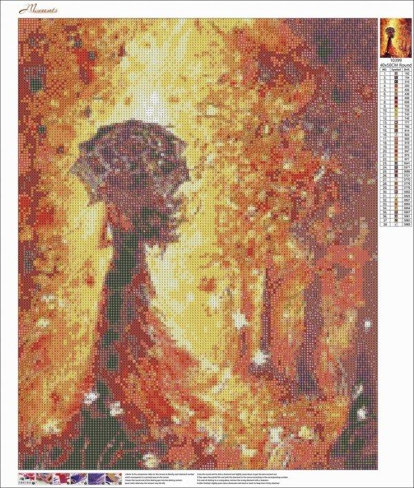 Haft Diamentowy Jesienna Kobieta 45x55 cm