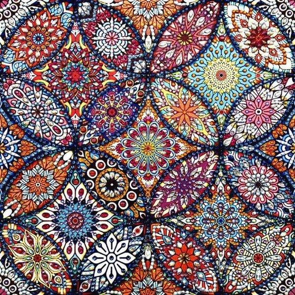 Haft Diamentowy Kalejdoskop 30x30 cm
