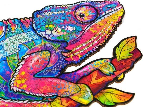 Drewniane Puzzle Magiczny Kameleon A3