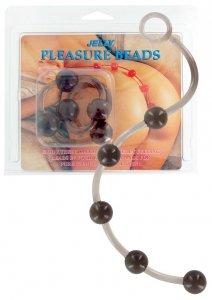 Bacik analny Jelly Pleasure Beads Black
