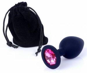 Exclusivity silikonowa wtyczka analna z różowym kryształkiem