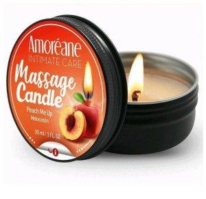 Amoreane brzoskwiniowa świeczka olejek do masażu 30ml