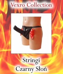 Męskie stringi CZARNY SŁOŃ