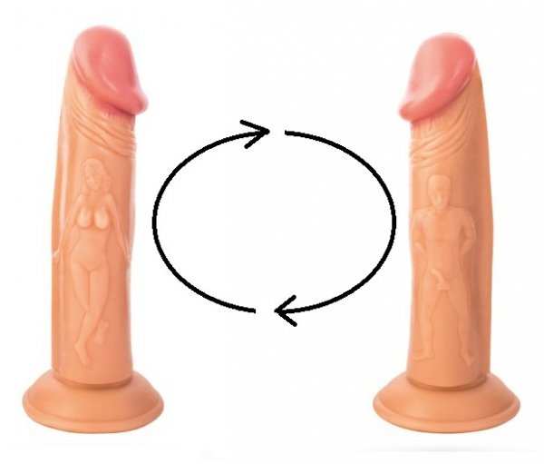 Dildo Real Stick Nude widok z dwóch stron