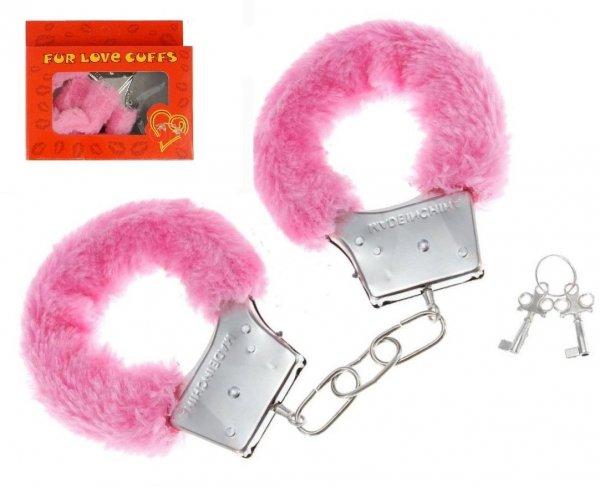 Różowe kajdanki Fur Love Cuffs