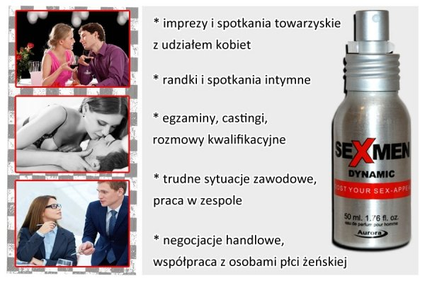 Sexmen Dynamic 50ml feromony dla mężczyzn afrodyzjak zapachowy