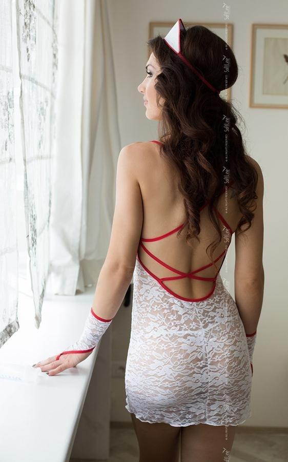 Kostium Sex Pielęgniarka ASPIRIN tył