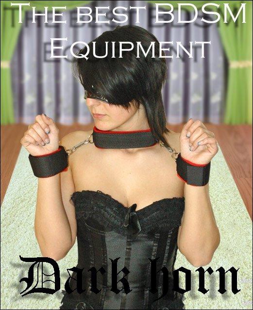 Dark Horn Collar zestaw BDSM