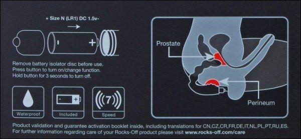 Cheeky Boy Rocks - Off stymulator prostaty 7 programów wibracji