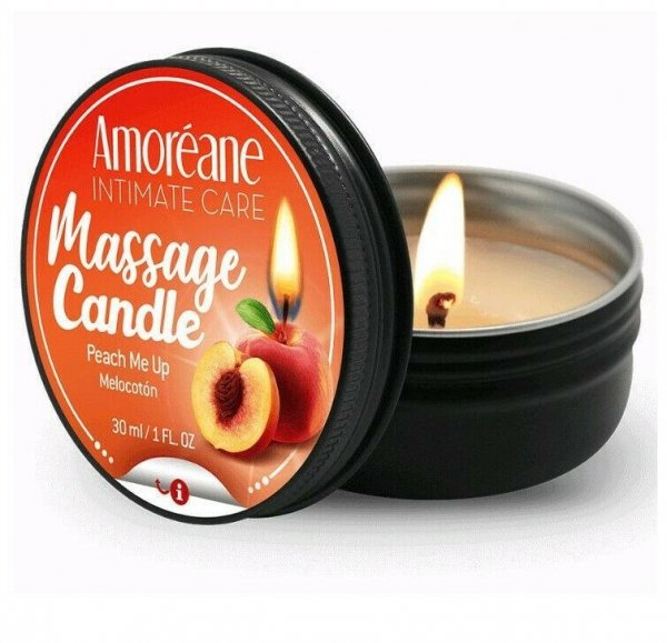 Świeczka do masażu Amoreane brzoskwiniowa