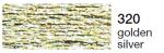 mulina Madeira Metalic perle 10 -golden silver 320
