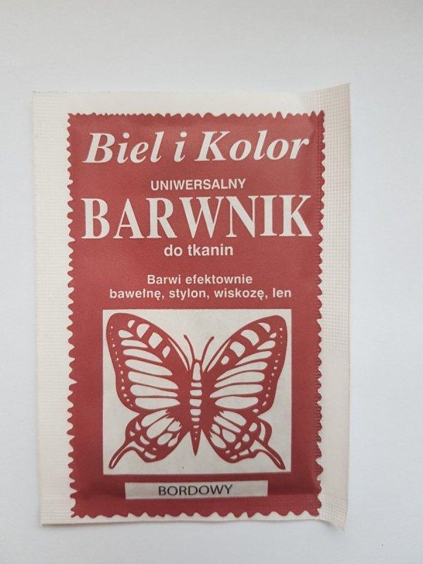 Barwnik - Biel i Kolor - bordowy