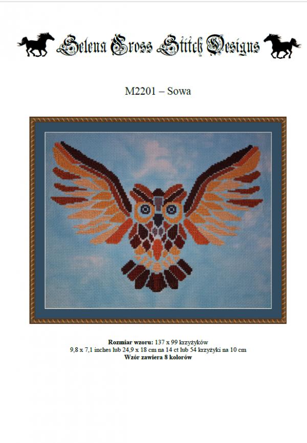 Wzór do haftu M2201 - Sowa