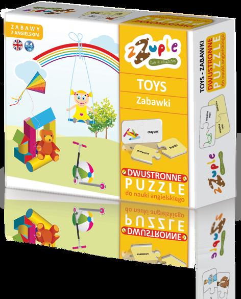 zZuple. Toys. Dwustronne puzzle do nauki języka angielskiego: Zabawki