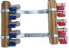 Rozdzielacz ALUPEX + zaworki złączki 3 obwody