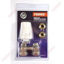 Ferro Zestaw termostatyczny wersja kątowa do grzejnika typu V