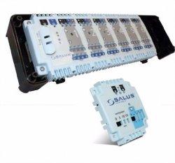 Zestaw listwa centralna ogrzewania podłogowego SALUS KL06 230V + moduł sterowania pompą SALUS PL06
