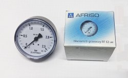 AFRISO manometr 63 10 BAR axialny 63 539