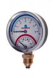 Termomanometr ŚR 80 MM, 0-120 C, 0-6 BAR,GW 1/2