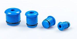 Korek prób szczelności pex 20mm niebieski
