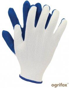 Rękawice poliestrowe z lateksem L