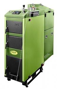 SAS ECO 3.0 36kW z podajnikiem tłokowym na miał węglowy, eko-groszek, pelety i zastępczym rusztem wodnym