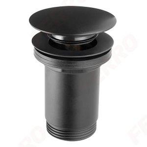 Zawór spustowy klik klak Rotondo czarny z przelewem G5/4