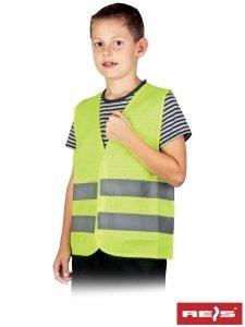 Kamizelka ostrzegawcza dziecięca żółta XS