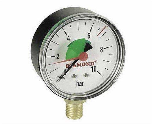 Manometr tarczowy radialny 63mm do 6 bar