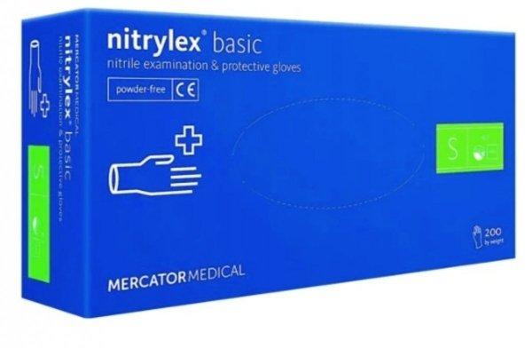 MERCATOR rękawice nitrylowe Nitrylex Basic S 200szt