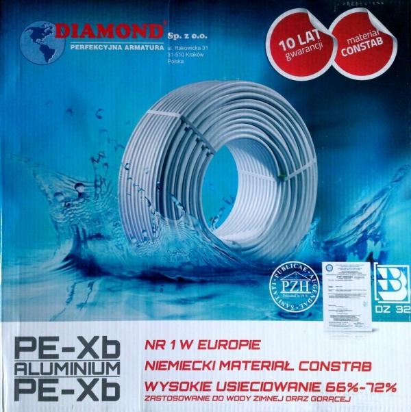 Rura PEX/Al/PEX 16x2 Diamond 100m