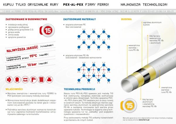 Rura PEX-AL-PEX Ferro 16x2