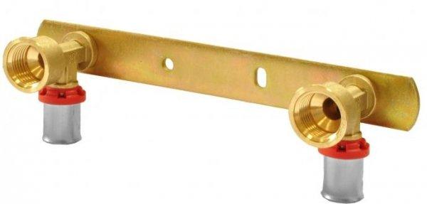 Pex zacisk listwa montażowa z kolankami 16x1/2gw 10cm