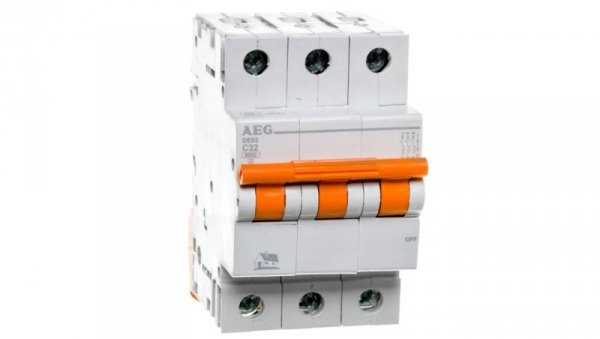 Wyłącznik nadprądowy 3P C 32A 6kA AC DE93C32 690829
