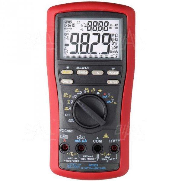 BM829s Multimetr TRMS(AC+DC),T1,T2,dual LCD,USB Brymen