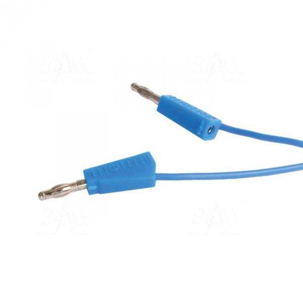 PPS1-BU Przewód pom. 2x banan 4mm, 1m, 20A niebieski