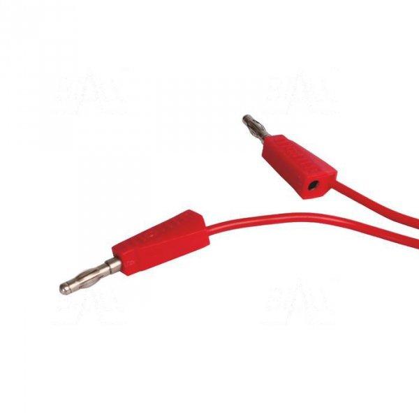 PPS1-R Przewód pom. 2x banan 4mm, 1m, 20A czerwony