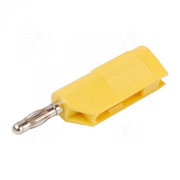 Wtyk banan 4mm do poł. wież. WW403-Y 50V=/30V~ 24A żółty
