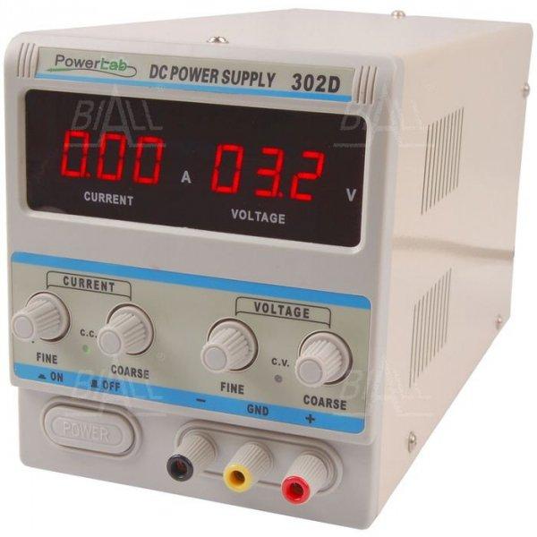 Zasilacz lab 302D 30V/2A DC LED PowerLab