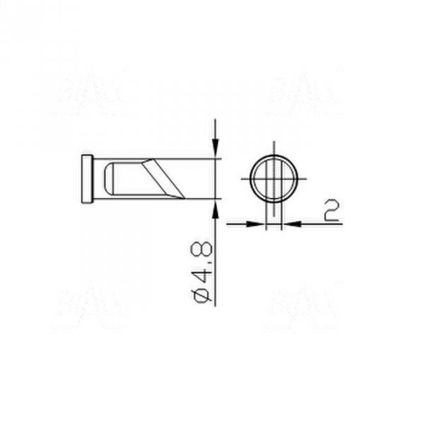 Grot 664 nóż 4,8mm do LF2000/LF8800/LF853D