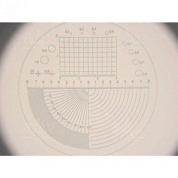 Lupa stołowa M1210-4  33mm/10x  z podziałką skala 0.1mm